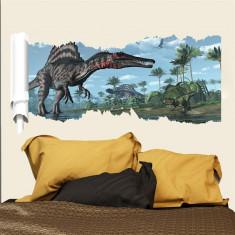 Sticker pentru perete autocolant 3D Dinozauri model 3