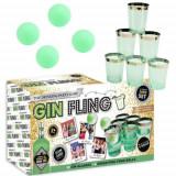 Joc de baut Gin Fling, pentru petreceri, 16 piese, verde