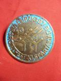 Insigna Sportiva - Spartakiada DDR 1987 , metal si email , L= 4cm