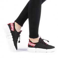 Pantofi sport dama Ajusta negri