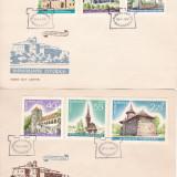 ROMANIA 1967  LP 650   MONUMENTE  ISTORICE  SERIE  FDC, Stampilat