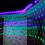 Instalatie de Craciun Tip Plasa Fir Transparent 3 m X 2 m 320 Leduri Multicolor 2812MC