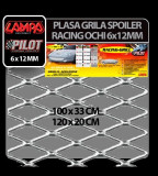 Plasa grila spoiler Racing Argintiu - Medium 6x12 mm - 100X33 cm - CRD-LAM04580 Auto Lux Edition