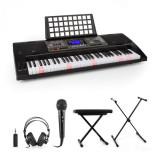 SCHUBERT Etude 450, set de pian electronic de formare, căști, microfon, suport, scaun, adaptor