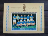 MANAMA 1968-MNH-CAMPIONI DIN SPORT,NATIONALA DE FOTBAL A ITALIEI-COLITA, Nestampilat