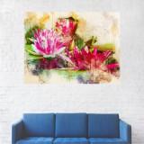 Tablou Canvas, Flori Rosii - 20 x 25 cm