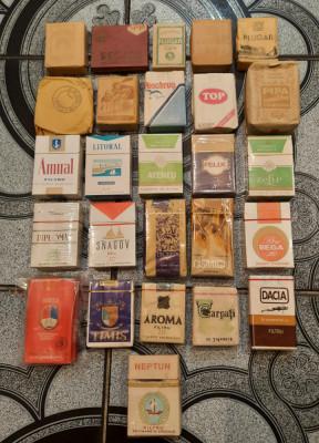 Colectie tigari romanesti anii 1930-1990 foto