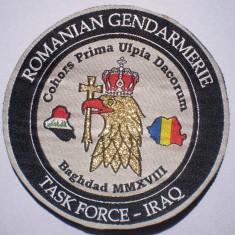 5.539 ROMANIA ECUSON MILITAR ROMANIAN GENDARMERIE TASK FORCE IRAQ IRAK BAGDAD