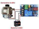 Modul regulator releu incarcare baterie acumulator rulota 12V 24V 36V 48V 60V