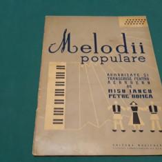 MELODII POPULARE ARMONIZATE ȘI TRANSCRISE PENTRU ACORDEON/MIȘU IANCU/1958