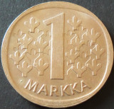 Moneda 1 MARKKA - FINLANDA, anul 1970  *cod 511, Europa