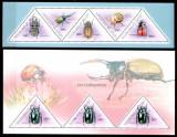 Guineea Guinea 2011, Mi #8554-8558 + Bl 1981, insecte, gandaci, MNH, cota 38 €!, Fauna, Nestampilat