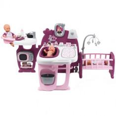 Centru de ingrijire pentru Papusi Baby Nurse Doll s Play Center Mov cu 23 Accesorii