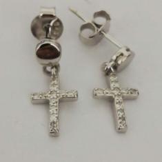 Cercei Argint 925 Cruce cu Pietre