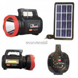 Lanterna LED 15W, Panou COB LED, Radio, SD, USB, MP3, Panou Solar ATX9