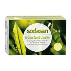 Sapun Crema cu Ceai Verde si Lime Bio 100gr Sodasan Cod: 4019886190152