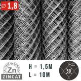 Cumpara ieftin PLASA IMPLETITA ZINCATA 1.5 X 10 M, DIAMETRU 1.8 MM