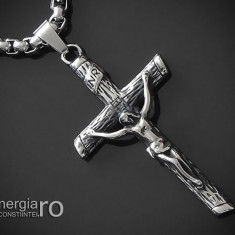Pandant Amuleta Pandantiv Iisus Cristos INOX - cod PND188