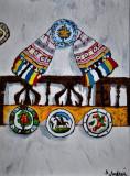 """Cumpara ieftin """"Simboluri Nationale""""Tablou semnat, de colectie, Istorice, Ulei, Impresionism"""