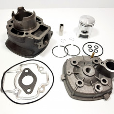 Kit Cilindru Set Motor + Chiuloasa Scuter Derbi Atlantis 49cc 50cc 4 colturi APA