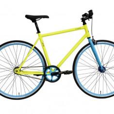 Bicicleta Oras Dhs Fixie 2896 495mm Galben Albastru 28