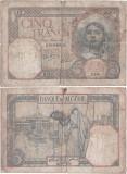 1941 ( 15 III ) , 5 francs ( P-77b.6 ) - Algeria