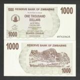 ZIMBABWE  1000  1.000  DOLARI  DOLLARS  2006   UNC  [1]  P- 44  , necirculata