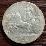 (A283) MONEDA DIN ARGINT ITALIA - 2 LIRE 1912, VITTORIO EMANUELE III, Europa
