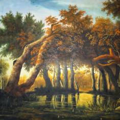 Tablou pictat în ulei pe pânză, Natura, Realism