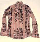 Camasa barbati cu scris din catifea, M, Visiniu