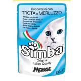 SIMBA PLIC PISICA PASTRAV/COD 100 GR, Nutraline
