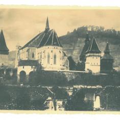 2484 - BIERTAN, Sibiu, Fortress - old postcard, real PHOTO - unused - 1936