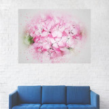 Tablou Canvas, Pictura Artistica Flori Roz - 40 x 50 cm
