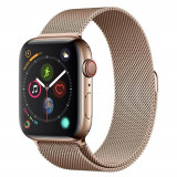 Curea smartwatch Devia Elegant Series Milanese Loop Gold pentru Apple Watch 42mm / 44mm