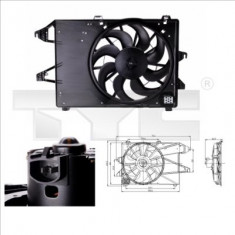Cumpara ieftin Ventilator radiator (cu carcasa) FORD MONDEO I 1.6-2.5 intre 1993-1996