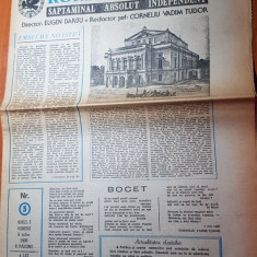 Ziarul romania mare 6 iulie 1990-redactor sef corneliu vadim tudor