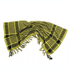 Fular - sal ( shemag ) - galben cu negru ( 100 cm x 100 cm )