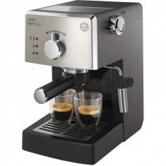 Espressor manual Saeco Poemia HD8425/19, 950W, 15 bar, 1.25l, Negru/Argintiu, Philips