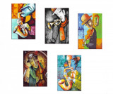 Set 5 tablouri Colorful Music 20x30 cm - Tablo Center, Multicolor