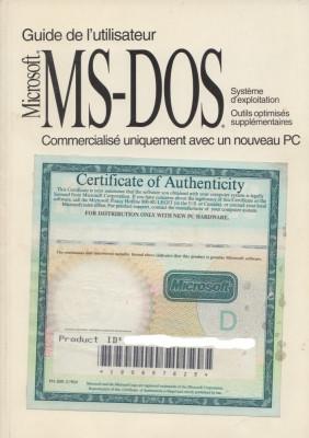 * * * - GUIDE DE L'UTILISATEUR ABREGE. MICROSOFT (R) MS-DOS (R) 6.22, 1994 foto