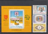 ROMANIA 1983  LP 1082 LP 1082 a LP 1083 ZIUA MARCII POSTALE ROMANESTI   MNH