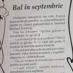Bal in septembrie