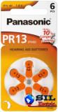 Baterie auditiva zinc-air V13, HA13, PR48 Panasonic