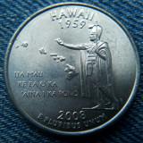 2q - 25 Cents 2008 D Hawaii / Quarter sfert Statele Unite ale Americii / USA SUA, America de Nord