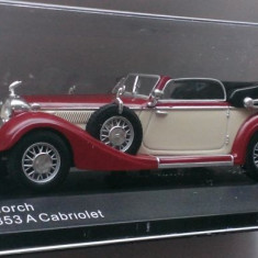 Macheta Horch 853A Cabriolet 1937 - Whitebox 1/43, 1:43
