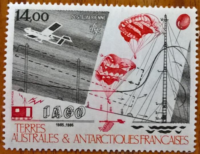 TAAF-(Antartica Fr.)-1986-P.A-''Cercetari stiintifice'-(Yv.95=7e)-MNH