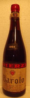 3 - VIN BAROLO gherzi, recoltare 1964 cl 68 gr 13,5 foto