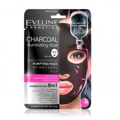 Masca de fata purificatoare, Eveline Cosmetics, Carbon 8in1, 20 ml