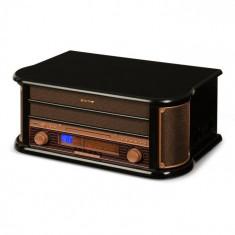 Auna BELLE EPOQUE 1908, sistem stereo retro, gramofon, radio, usb, cd, mp3, microsistem
