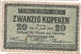 GERMANIA REGIONAL OCCUPATION OF LITHUANIA WWI LITUANIA 20 kopeken 1916 VF